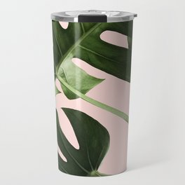 Monstera x Pink Travel Mug