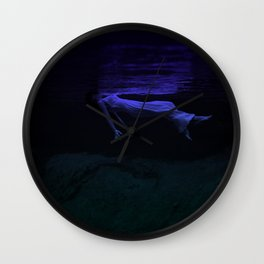 Rising To The Top : Deep Blue Water Photograph Wall Clock