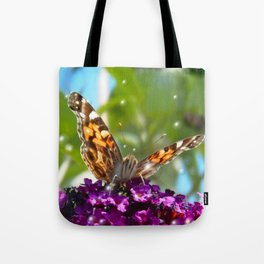 Small Butterfly with Bubbles  Tote Bag