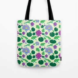 Jumping Frogs of Lily Pad Valley Tote Bag