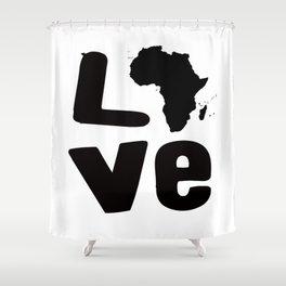 Afrakan Love  Shower Curtain