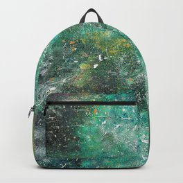 A galactic ocean -Green- Cosmic Painting Art Backpack