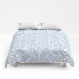 Blue Snow Roads  Comforters