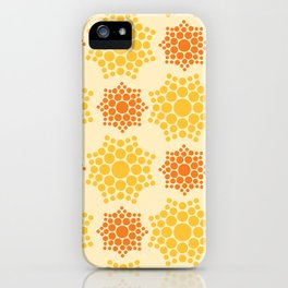 Dot A Mandala in Yellow iPhone Case