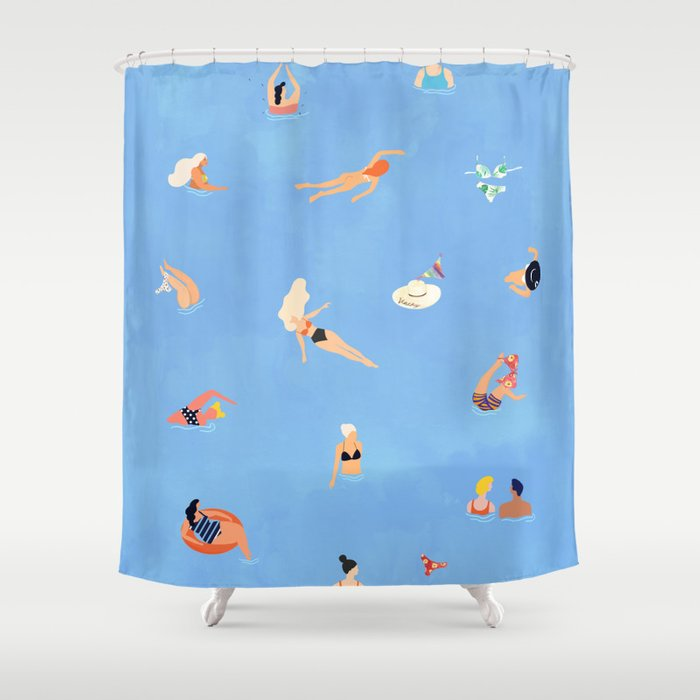 Summer Weekend #painting #illustration Shower Curtain
