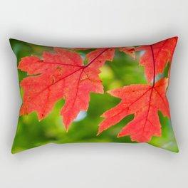 RED Autumn leaves 1 Rectangular Pillow