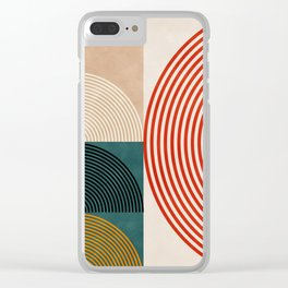 Geometric lines & shapes II circles Clear iPhone Case