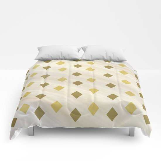 Shades Of Diamonds Abstract Comforters
