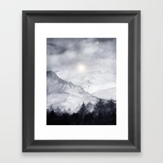 Cross Mountains Framed Art Print