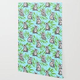 Koala Pattern Charitable Art (Blue Background) Wallpaper
