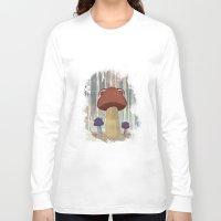 mushroom Long Sleeve T-shirts featuring mushroom by Zuhal Arslan