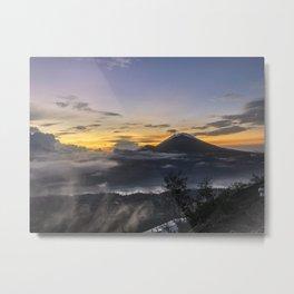 Sunrise on top of Mount Batur, Bali, Indonesia Metal Print