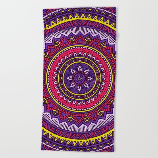 Hippie mandala 40 Beach Towel