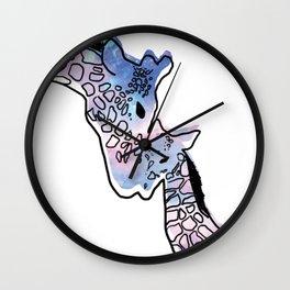 Giraffe Mother And Baby Wall Clock