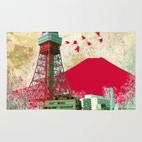 tokyo Area & Throw Rugs featuring Tokyo by Kimball Gray