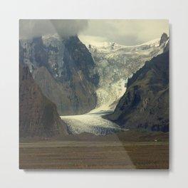 Iceland Glacier Metal Print