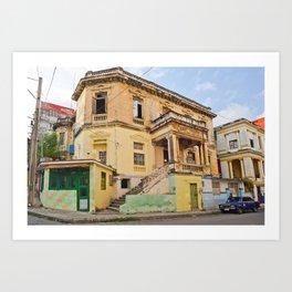 Cuba Funky House Havana Architecture Old Building Cuban Island Urban City Spain Colorful Art Print