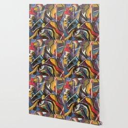 Birds Converse at Dusk Wallpaper