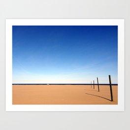 The beach of Valencia is a paint by Dalì Art Print