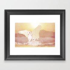 HORSE - Pegasus Framed Art Print