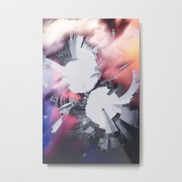 Artistic LXXX - Abstract Fractal Lens CityScape II Metal Print