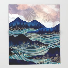 Ocean Sunrise Throw Blanket