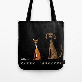 Happy Together - Black Tote Bag