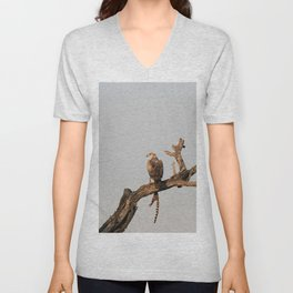Hawk Eagle with its Catch Unisex V-Neck