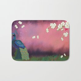 Peacock Blossoms Bath Mat