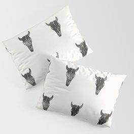 Stamped Skull Pillow Sham