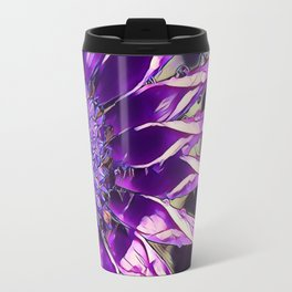 African Daisy in Manipulated Purple Travel Mug