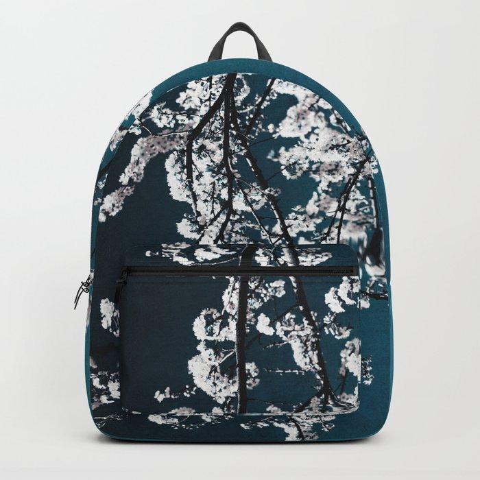 white blossoms Backpack