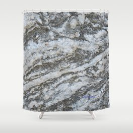 TEXTURES -- Riverstone #1 Shower Curtain