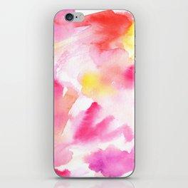 Pink watercolors iPhone Skin