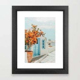 Greece Airbnb #photography #greece #travel Framed Art Print