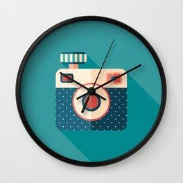 Camera with Flash Wall Clock