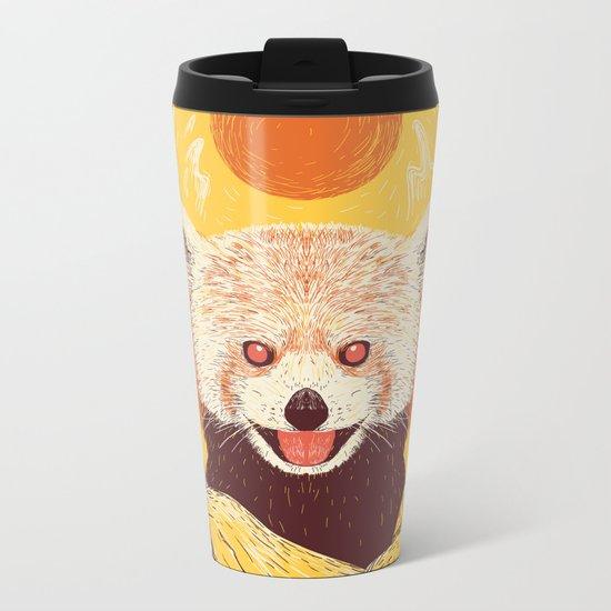 Red Panda on a Sunny Day Metal Travel Mug