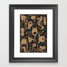 Topsy Turvy - Dark Framed Art Print