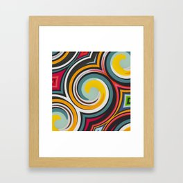 Retro Style colors and pattern Framed Art Print