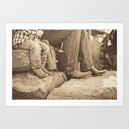 Big Boots, Little Boots Art Print