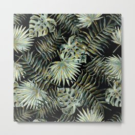 Jungle Dark Tropical Leaves #decor #society6 #pattern #style Metal Print