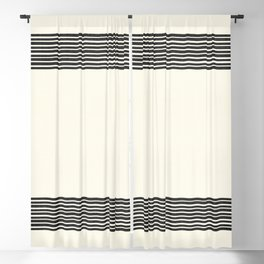 Band in Cream Blackout Curtain