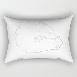 Bulldog Face Rectangular Pillow