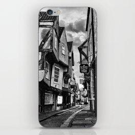 York Shambles Black & White iPhone Skin