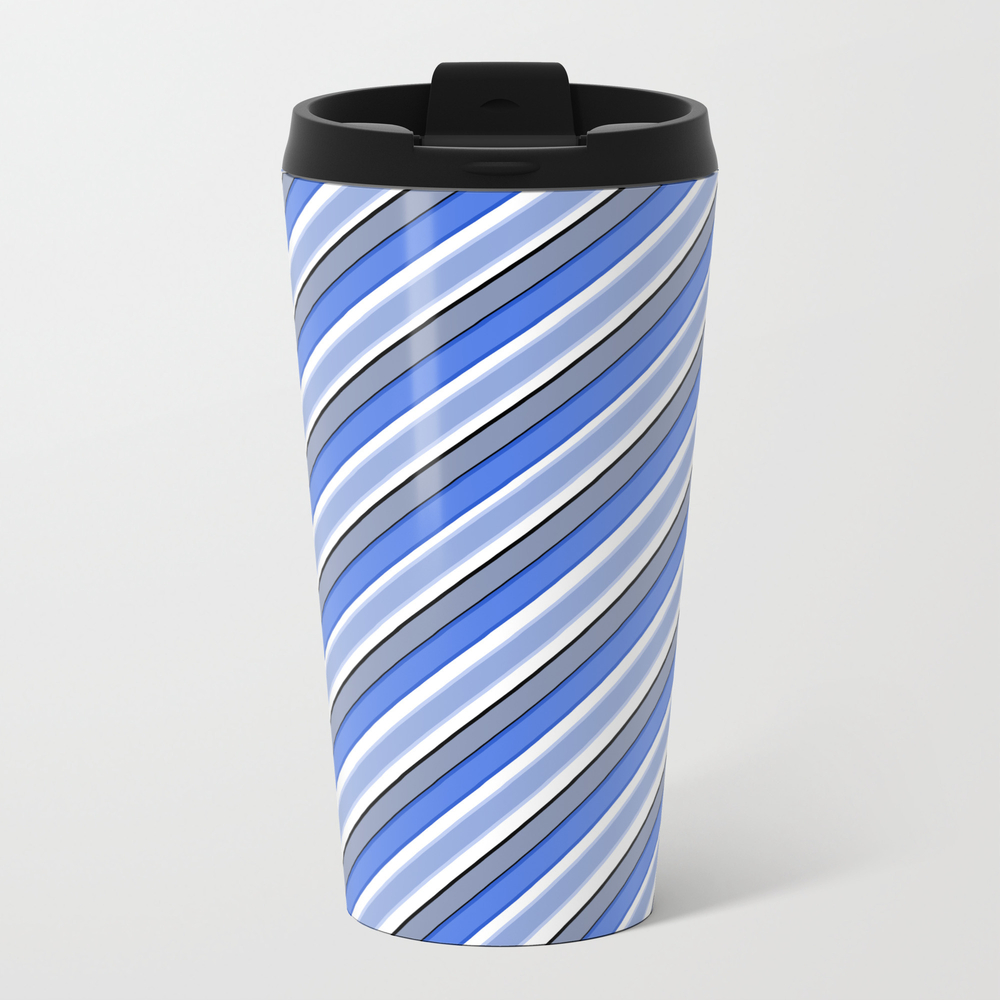 Diagonal Stripes Travel Mug TRM8769182