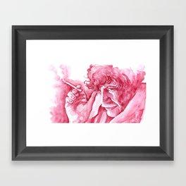 Red Vonnegut Framed Art Print