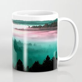 Misty Mountains Morning : Magenta Mauve Teal Coffee Mug
