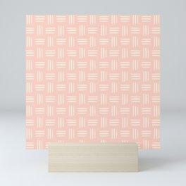Cute Geometric Pattern on Pink Background Mini Art Print