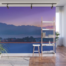 Mountainscape At Sunset Over Geneva Lake Wall Mural