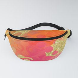 Decorative Gold Sparkling Bright Abstract Design Fanny Pack